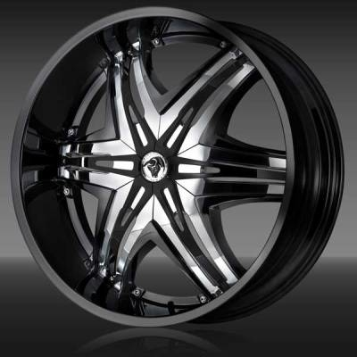 Diablo Wheels Elite Black with Chrome Inserts