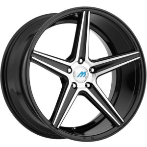 Mach Euro Concave ME.1 Black Machined Wheels