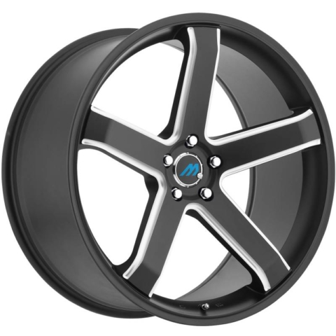 Mach Euro Concave ME.5 Black Milled Wheels