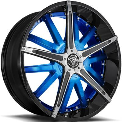 Diablo Dagger Wheels Custom Blue