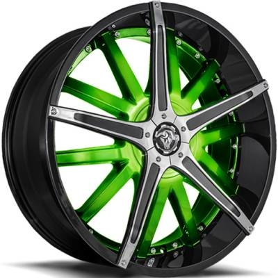 Diablo Dagger Wheels Custom Green
