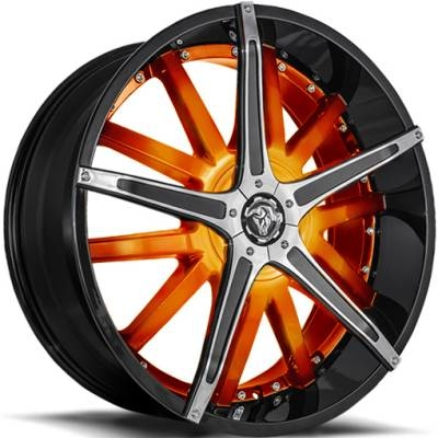Diablo Dagger Wheels Custom Orange