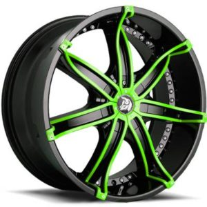 Diablo DNA Black with Green Inserts