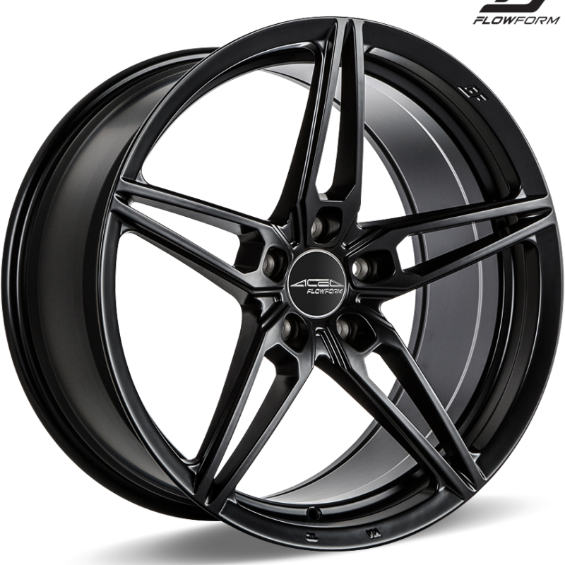 Ace Alloy AFF01 Matte Black Wheels