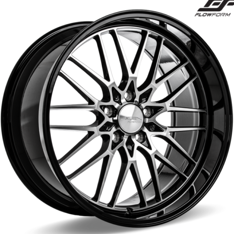 Ace Alloy AFF04 Machine Face Black Wheels