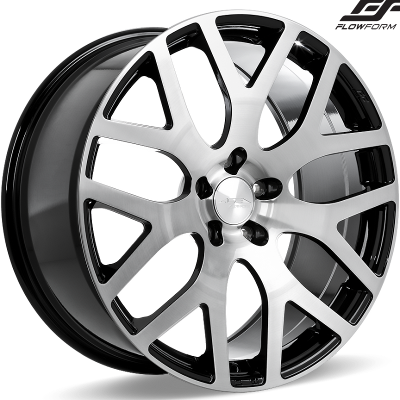 Ace Alloy AFF07 Brushed Face Black Wheels