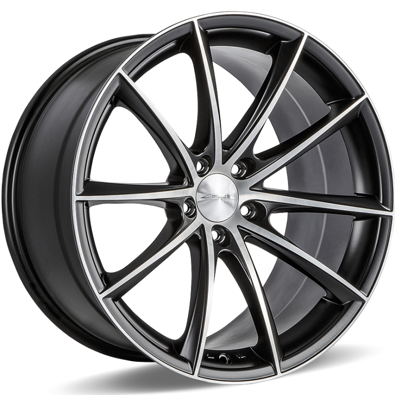 Ace Alloy Convex D704 Matte Black Machined