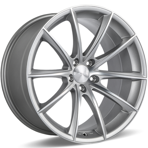 Ace Alloy Convex D704 Matte Metallic Silver Machined