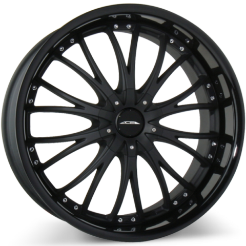 Ace Alloy Eminence Matte Black Gloss