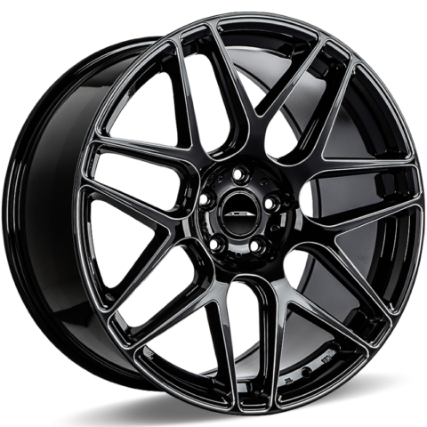 Ace Alloy Mesh 7 Gloss Black Milled