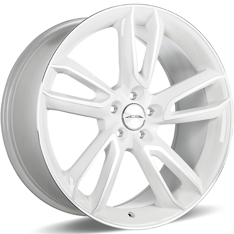 Ace Alloy Scorpio White Machined
