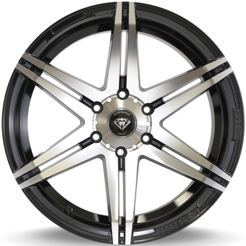 White Diamond W8154 Machine Black Wheels