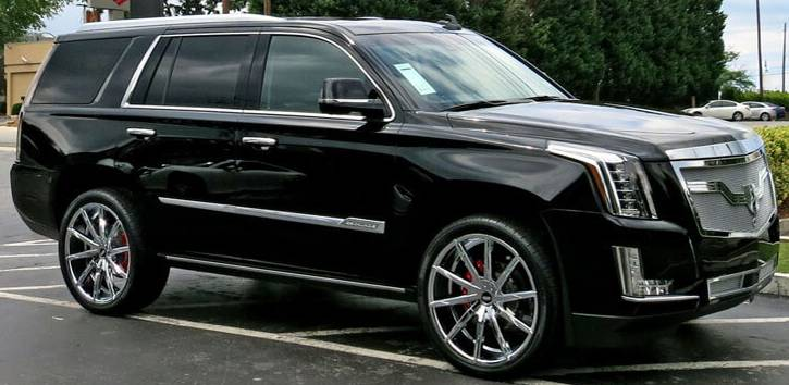 Cadillac Escalade Dressed on Lexani CSS-15 Chrome Wheels