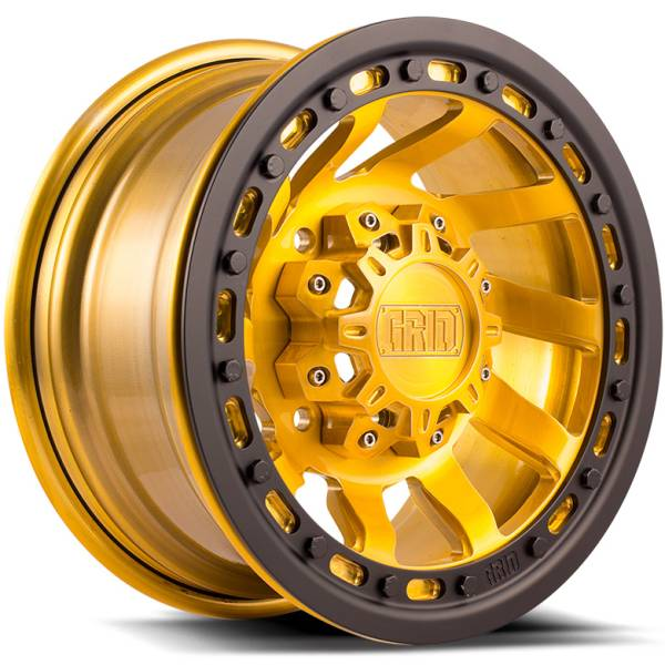 Grid Off Road Wheels GX1 Gold with Black Beadlock