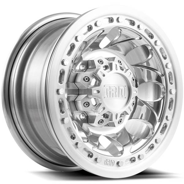 Grid Off Road Wheels GX5 Polished with Brushed Beadlock