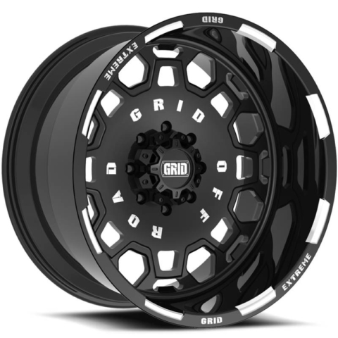 Grid Off Road Wheels GF-M0 Black Milled Wheels