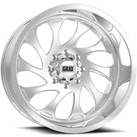 Grid Off Road Wheels GF-M10 Polished Wheels