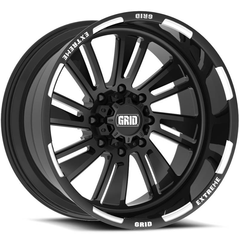 Grid Off Road Wheels GF-M11 Black Milled Wheels