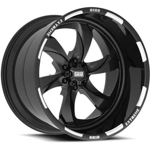 Grid Off Road Wheels GF-M12 Black Milled Wheels