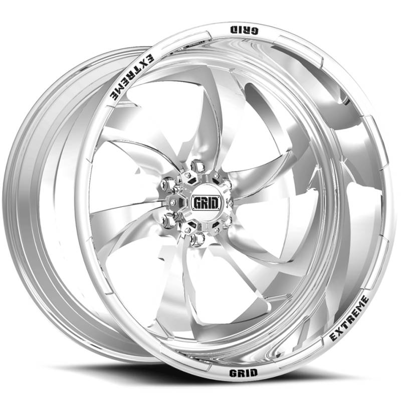 Grid Off Road Wheels GF-M12 Polished Wheels