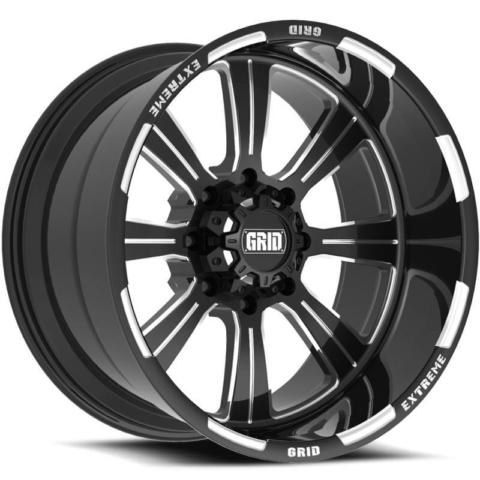 Grid Off Road Wheels GF-M13 Black Milled Wheels