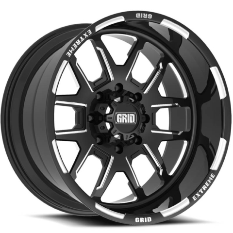 Grid Off Road Wheels GF-M15 Black Milled Wheels