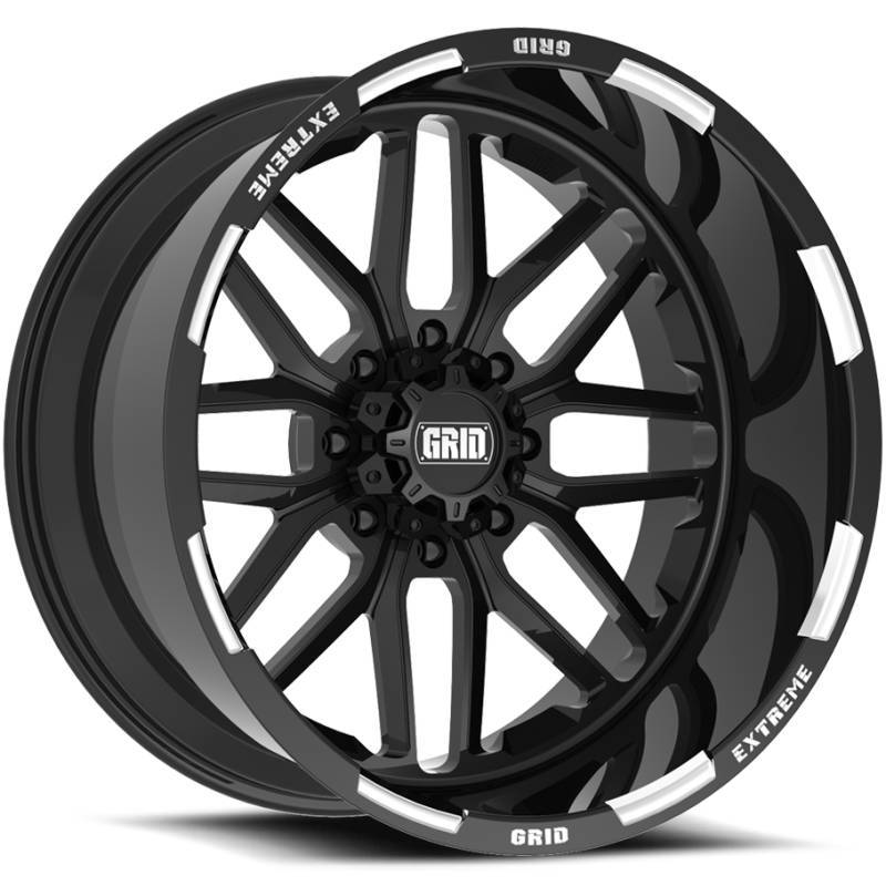 Grid Off Road Wheels GF-M2 Black Milled Wheels