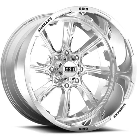 Grid Off Road Wheels GF-M8 Polished Wheels