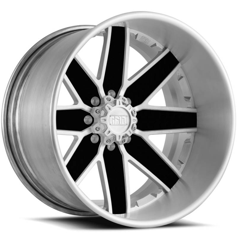 Grid Off Road Wheels GF1 Brushed with Black Accents