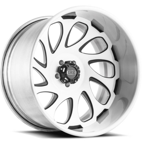 Grid Off Road Wheels GF10 Brushed with Black Accents