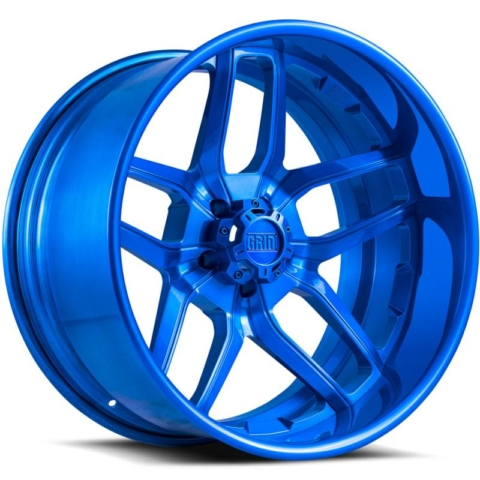 Grid Off Road Wheels GF2 5-Lug Brushed Blue