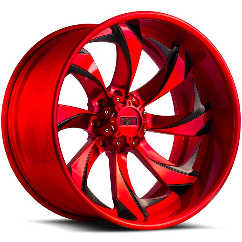 Grid Off Road Wheels GF4 Brushed Red with Black Accents