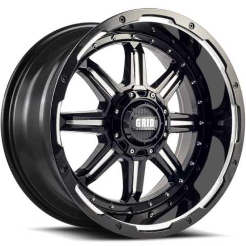 Grid Off Road Wheels GD-10 Gloss Black Milled