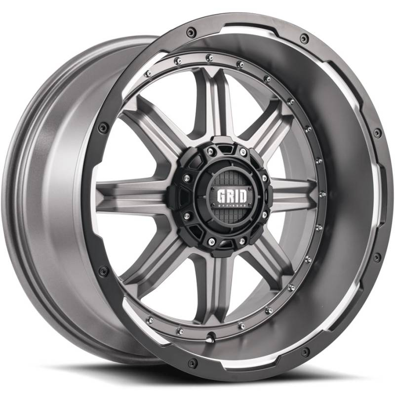 Grid Off Road Wheels GD-10 Matte Anthracite Milled