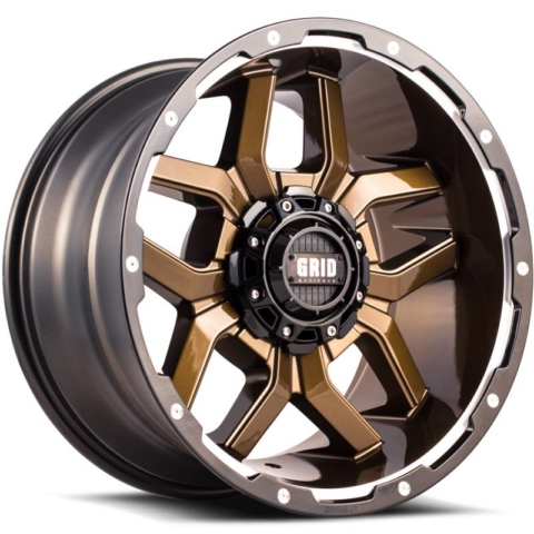 Grid Off Road Wheels GD-7 Gloss Bronze Milled