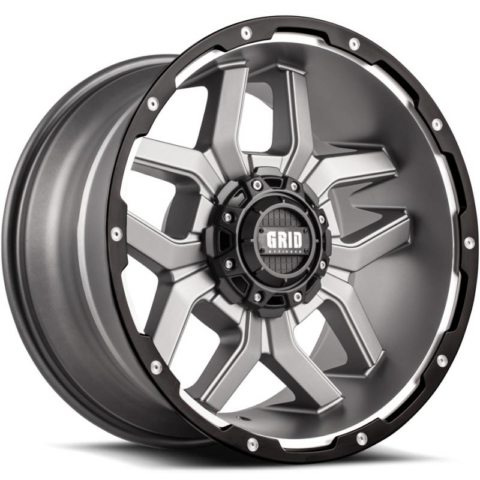 Grid Off Road Wheels GD-7 Matte Anthracite Milled