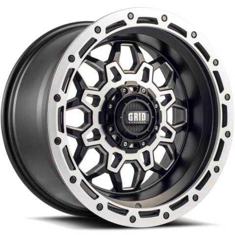 Grid Off Road Wheels GD-9 Matte Black Milled