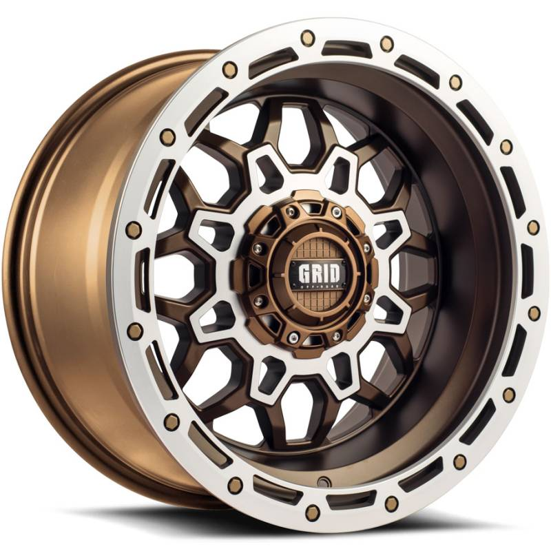 Grid Off Road Wheels GD-9 Matte Bronze Milled