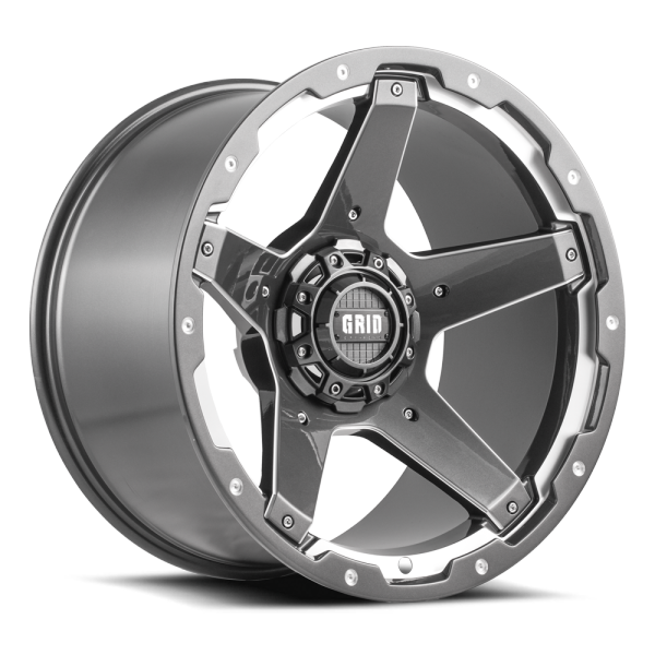 Grid Off GD-4 Gloss Graphite Milled Wheels