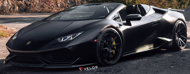 Lamborghini Stealth Huracan Spyder with Velos VLS01 3-Piece Forged Wheels
