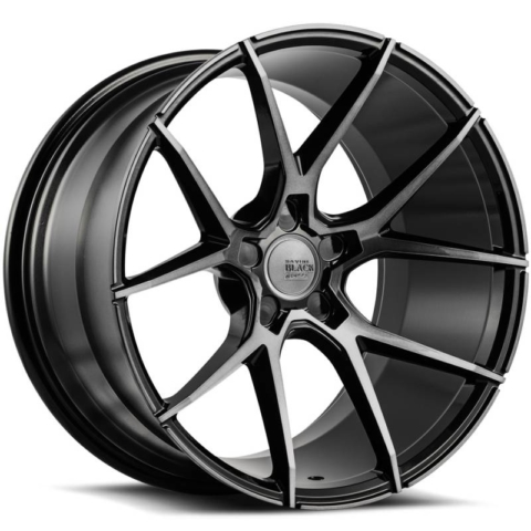 Savini Black Di Forza BM14 Gloss Black with Dark Tint Wheels DDT