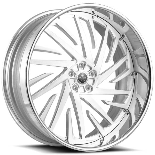 Savini Diamond Lusso Brushed Wheels with Chrome Lip