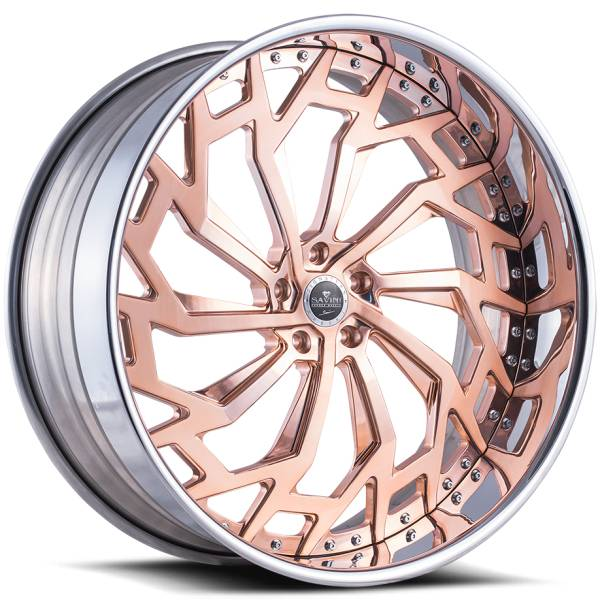 Savini Diamond Marche Rosegold Wheels