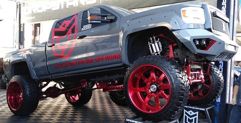 Custom Red Dropstars Off-Road Wheels