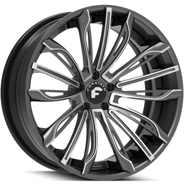 Forgiato Montare Black Wheels with Brushed Accents