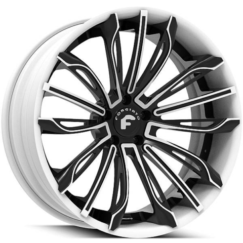 Forgiato Montare Black and White Wheels