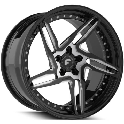 Forgiato Technica 2.1 Black and Silver Wheels