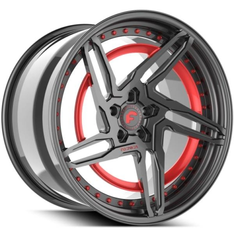 Forgiato Technica 2.1 R Grey with Red Accents