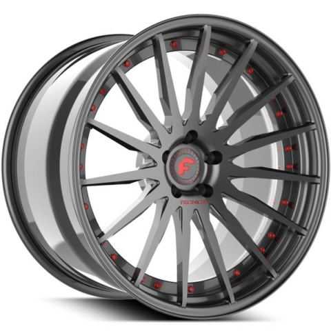 Forgiato Technica 2.3 Grey with Red Accents