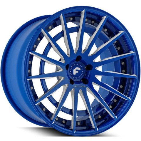 Forgiato Technica 2.3 R Blue with Brushed Accents